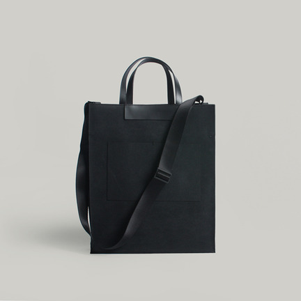 Euclid Square Tote& Shoulder Black