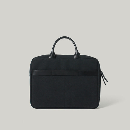 Euclid 15 Briefcase Tote & Shoulder Black
