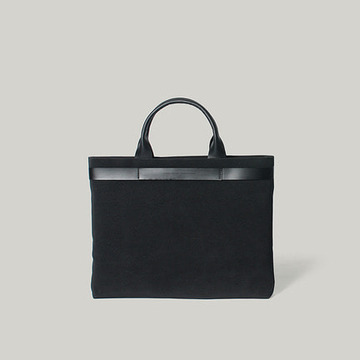 Euclid Slim Tote & Shoulder Black